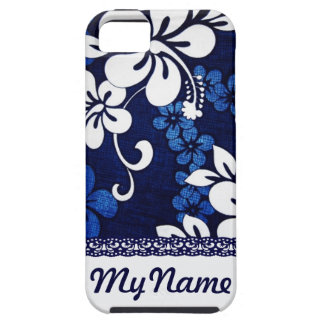 Personalized Blue Hawaii Flowers iPhone 5 Cases