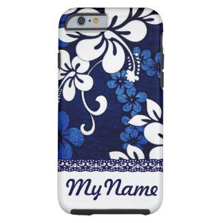 Personalized Blue Hawaii Flowers iPhone 6 Case