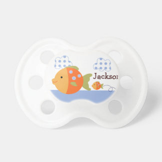 "Personalized ""Blue Lagoon Fish"" Pacifier"