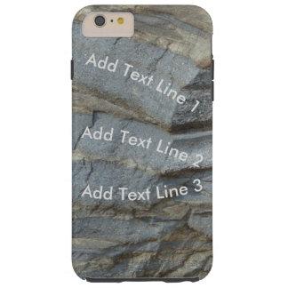 Personalized Blue Limestone Tough iPhone 6 Plus Case