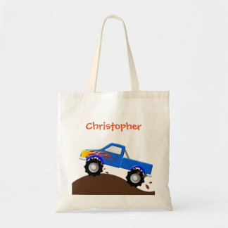 Personalized Blue Monster Truck Bag
