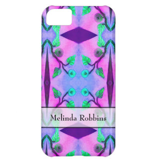 personalized blue pink flower abstract iPhone 5C case
