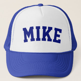 Personalized Blue Short Name Trucker Hat