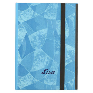 Personalized Blue Stain Glass iPad Case