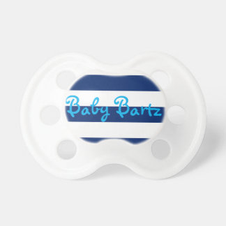 Personalized Blue Stripe Pacifier, Blue Name Dummy