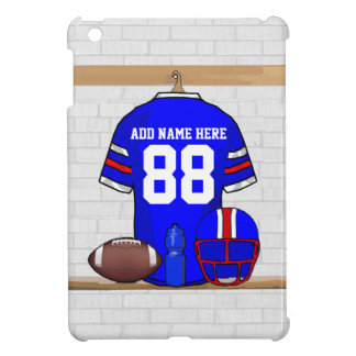Personalized Blue White Red Football Jersey Case For The iPad Mini