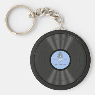 Personalized Bluegrass Vinyl Record Basic Round Button Key Ring