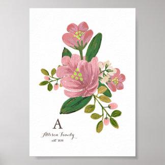 Personalized | Blush Bouquet Art Print 5x7