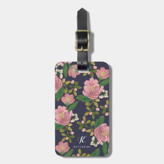 Personalized   Blush Bouquet Luggage Tag