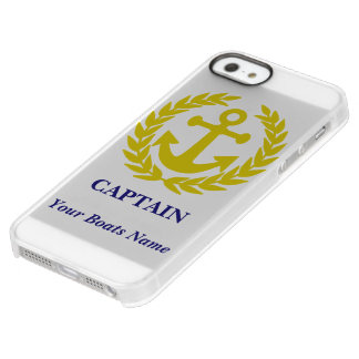 Personalized boat and captain permafrost® iPhone SE/5/5s case