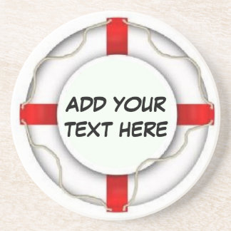 Personalized Boating Life Preserver Coaster