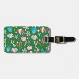 Personalized Boho Floral Luggage Tag