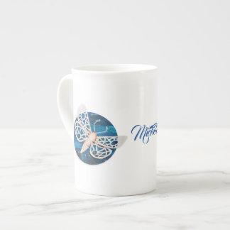 Personalized Bone China Mug with Night Moths