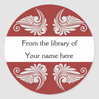 Personalized Bookplates - Flourishes Sticker