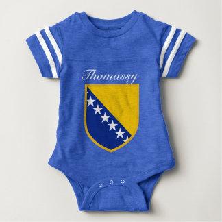 Personalized Bosnia Flag Baby Bodysuit