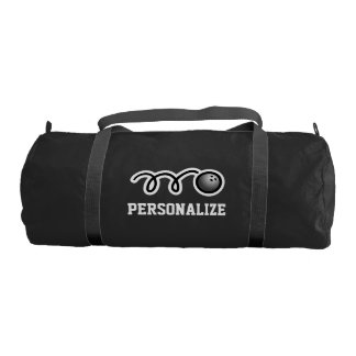 Personalized bowling bag with custom name monogram