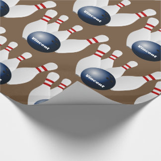 Personalized Bowling Wrapping Paper