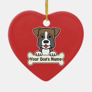 Personalized Boxer Ceramic Ornament