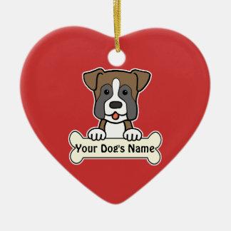 Personalized Boxer Ceramic Heart Decoration