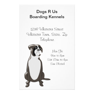 Personalized Boxer Dog Design Boarding Kennels 14 Cm X 21.5 Cm Flyer