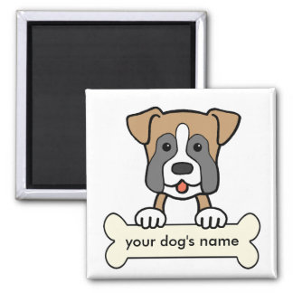 Personalized Boxer Square Magnet