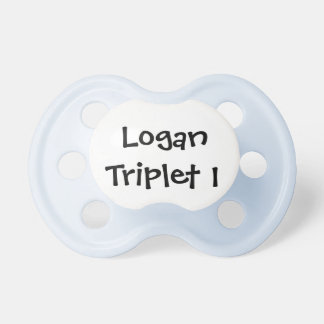 Personalized Boy Triplet Pacifier