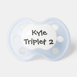 Personalized Boy Triplet Pacifier