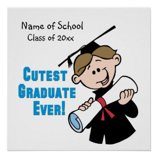 Personalized Boys Graduation Poster