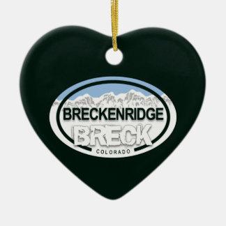Personalized Breckenridge Colorado Rocky Mountain Ceramic Ornament