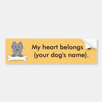 Personalized Briard Bumper Sticker