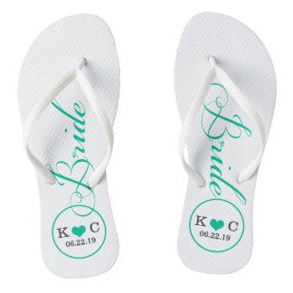 Personalized Bridal (aqua) Thongs