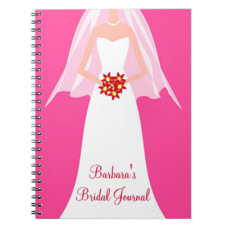 Personalized Bridal Journal Notebook