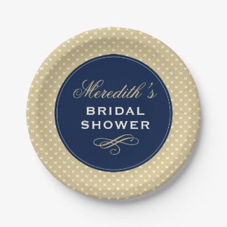 Personalized Bridal Shower Paper Plate