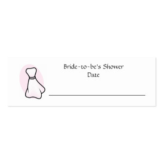 Personalized Bridal Shower Place Card Pack Of Skinny Business Cards