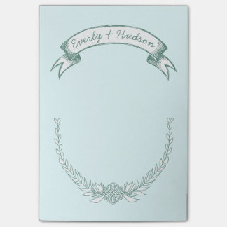 Personalized Bride and Groom Post-it® Notes