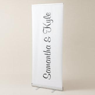 Personalized Bride Groom Names Wedding Reception Retractable Banner