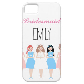 Personalized Bridesmaid Barely There iPhone 5 Case