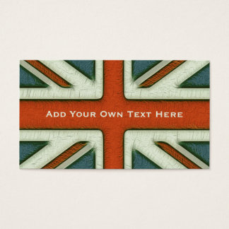 Personalized British Flag Business Card