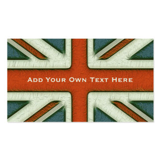 Personalized British Flag Business Cards