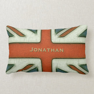 Personalized British Flag Throw Cushions