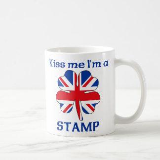 Personalized British Kiss Me I'm Stamp Mugs