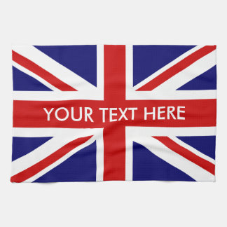 Personalized British Union Jack flag kitchen towel