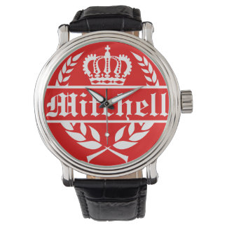 Personalized Brittany Red Wrist Watches