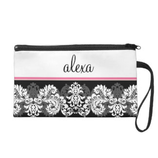 Personalized Brocade Wristlet