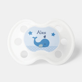 Personalized Brody Whale Nautical Pacifier