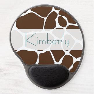 Personalized Brown Giraffe Pattern Mousepad Gel Mouse Pad