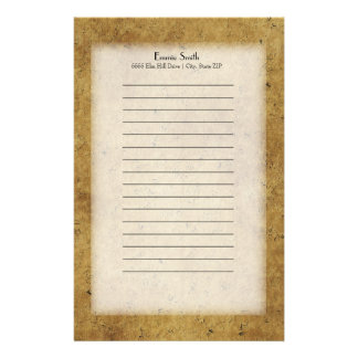 Personalized Brown Grunge Stationery