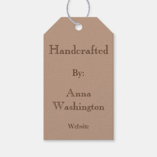 Personalized Brown Handcrafted Tag