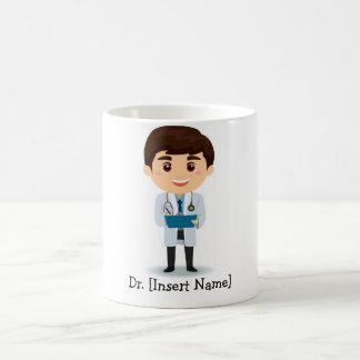 Personalized Brunette Male Doctor Coffee Mug