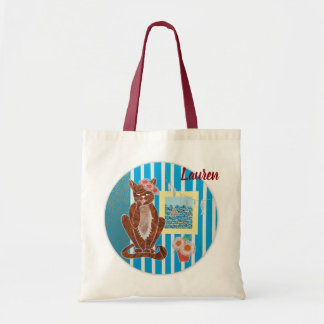 Personalized Budget Tote Bag with Cat